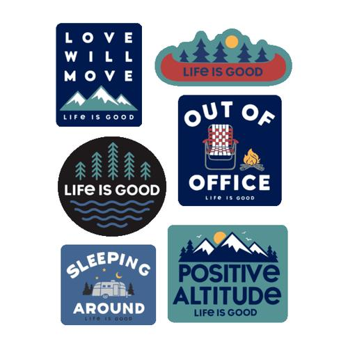 Life Is Good Camp Pack Sticker 6 Pack