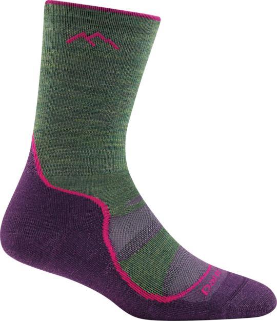 Darn Tough Women's Light Hiker Micro Crew Lightweight Hiking Sock MOSS