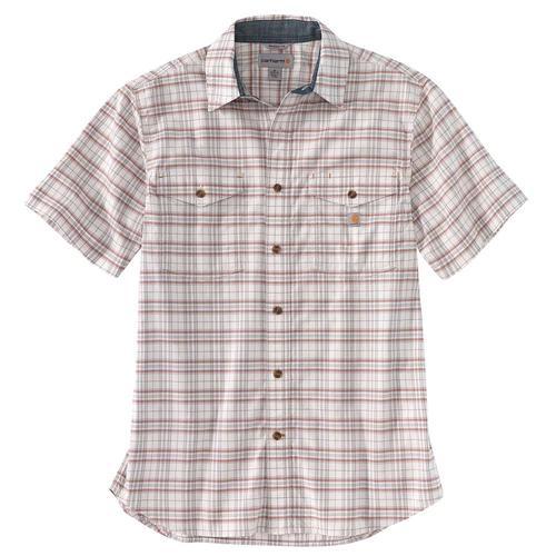 Carhartt Men's Big and Tall Rugged Flex Relaxed Fit Lightweight Short Sleeve Plaid Shirt