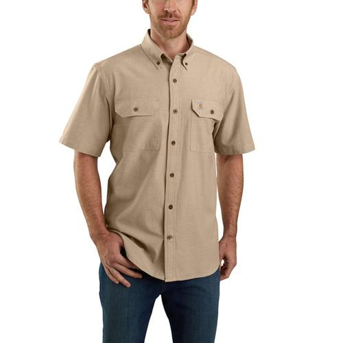 Carhartt Men's Big and Tall Loose Fit Midweight Short Sleeve Chambray Shirt