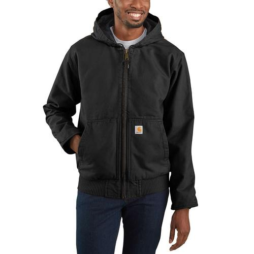 Carhartt Men's Big and Tall Washed Duck Quilted Flannel Lined Active Jac