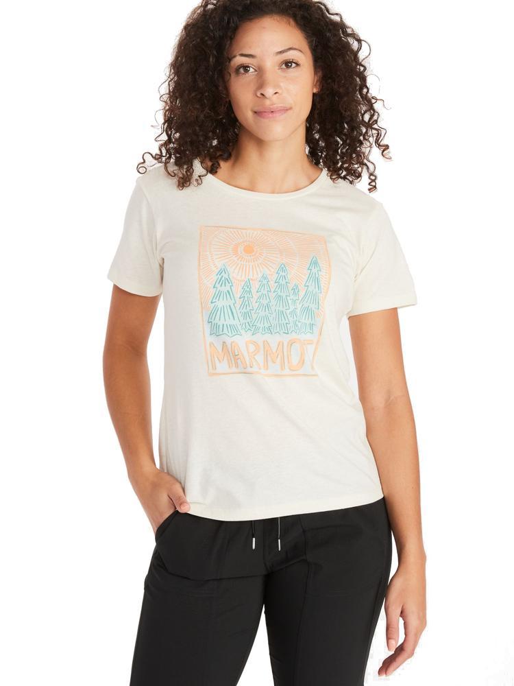 Marmot Women's Woodblock Graphic Tee TURTLEDOVE_HEATHER