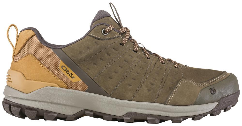 Oboz Men's Sypes Low Leather Waterproof Hiking Shoe WOOD