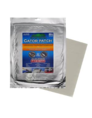Gator Patch Marine Skid Plate 6x9-inch Fiberglass Polyester Patch