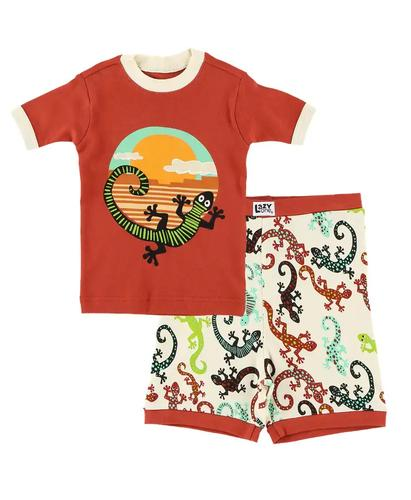 Lazy One Kids' Gecko Pajama Shorts Set
