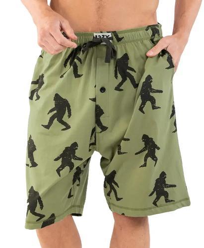 Lazy One Men's Bigfoot Pajama Shorts