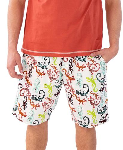 Lazy One Men's Gecko Pajama Shorts
