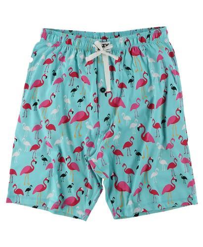 Lazy One Men's Flamingo Pajama Shorts