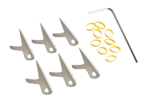 Swhacker 2 Blade 100grain 2in Cut Replacement Blades 6 Pack