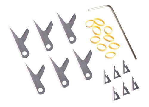 Swhacker 100 Grain Hybrid Broadhead Replacement Blade Kit 6 Pack