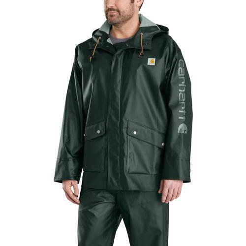 Carhartt Men't Waterproof Loose Fit Heavyweight Rain Jacket