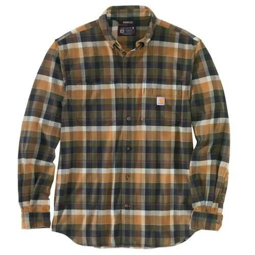 Carhartt Men's Rugged Flex Midweight Flannel Relaxed Fit Shirt Big and Tall Sizes