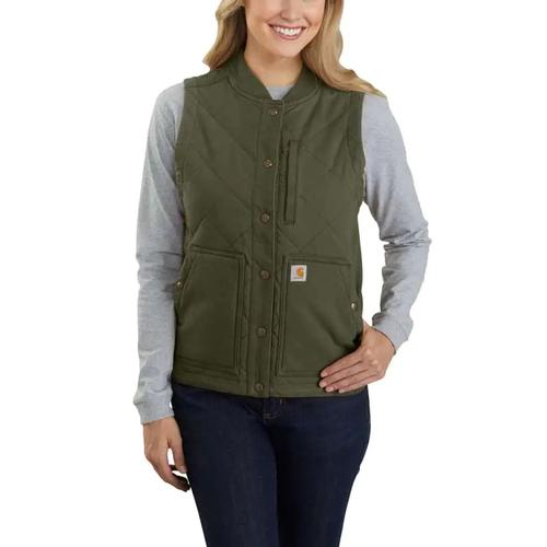 Carhartt Women's Rugged Flex Relaxed Fit Canvas Insulated Rib Collar Vest