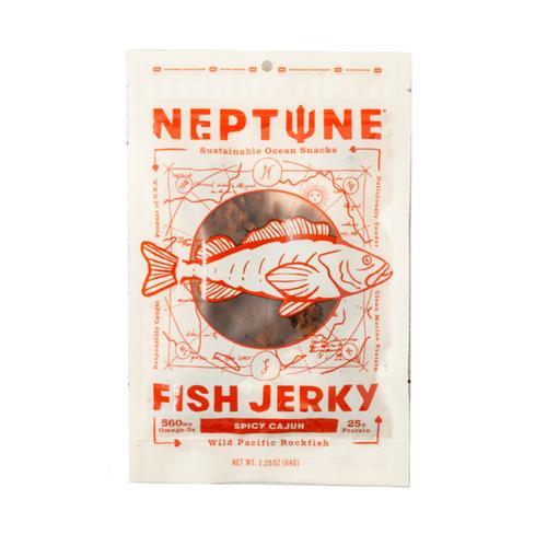 Neptune Snacks Spicy Cajun Fish Jerky