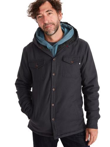 Marmot Men's Ridgefield Sherpa-lined Flannel Hoodie