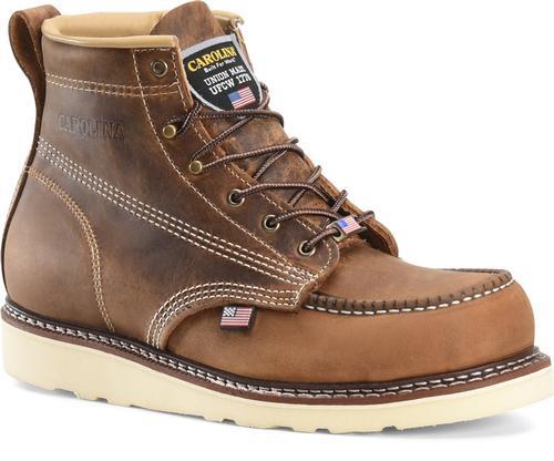 Carolina Men's Amp 6in Domestic Moc Toe Wedge Boot