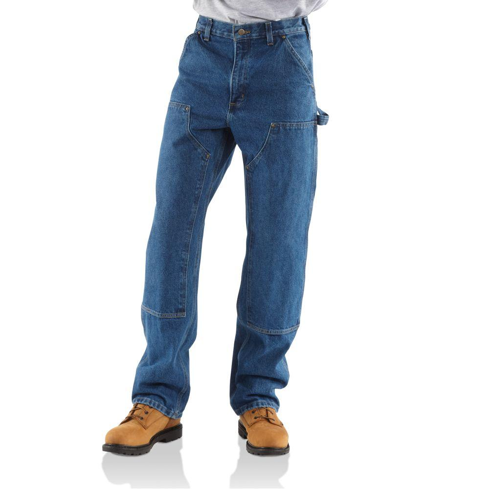 Carhartt Men's Double Knee Washed Denim Logger Pant